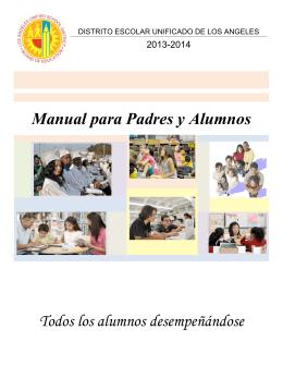 Manual para Padres y Alumnos Todos los alumnos desempeñándose