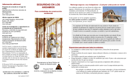 Scaffold Safety Brochure_Spanish