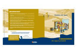 """folleto """"El abastecimiento de agua potable"""""""