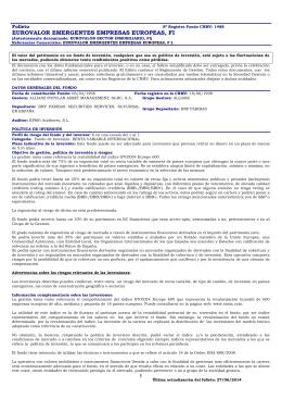 eurovalor emergentes empresas europeas, fi