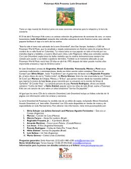 Putumayo Kids Presenta: Latin Dreamland Toma un viaje musical