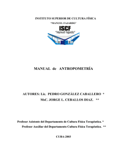 MANUAL de ANTROPOMETRÍA - Sitio Oficial del INDER
