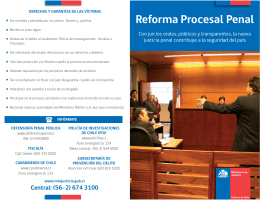 Folleto Reforma Procesal Penal