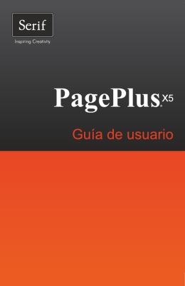 Guía de usuario de PagePlus X5