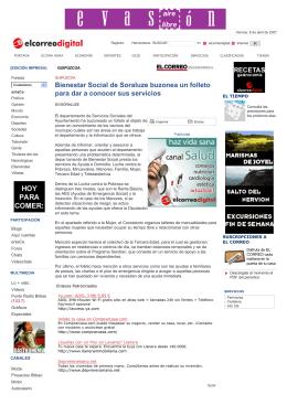 Bienestar Social de Soraluze buzonea un folleto para dar a conocer