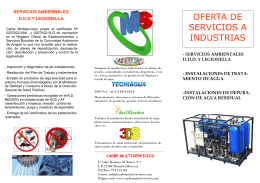 folleto industrias