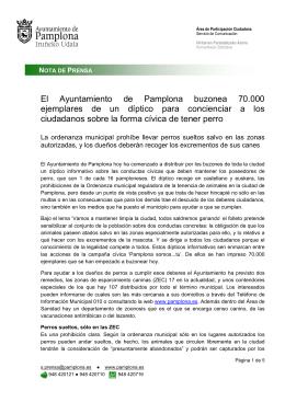 El Ayuntamiento de Pamplona buzonea 70.000 ejemplares de un