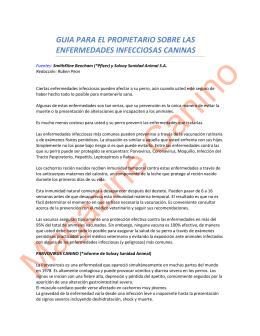 Guía para el propietario de Enfermedades Infecciosas Caninas