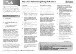 Prepare su Plan de Emergencia para Mascotas