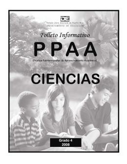organización de los folletos informativos ppaa