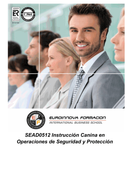 SEAD0512 Instrucción Canina en Operaciones de Seguridad y