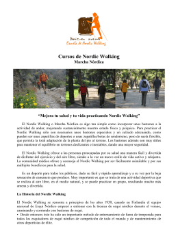 Nordic Walking Folleto Otoño 2012. Corregido