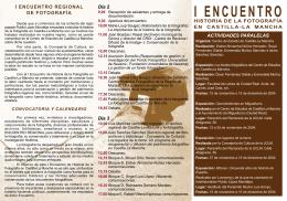 Folleto del encuentro - Universidad de Castilla