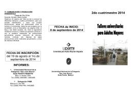 folleto upami 2do c 2014 - Sede Puerto Madryn