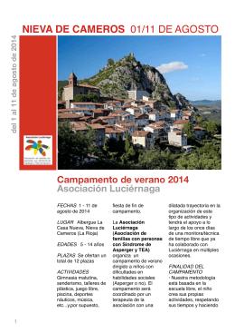 folleto campamento - asociación luciérnaga