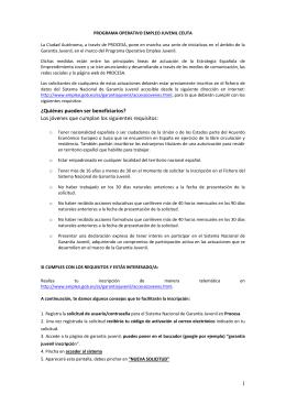 Folleto informativo proceso de inscripción en el Programa