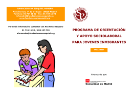 Folleto del servicio - Fundación San Ezequiel Moreno