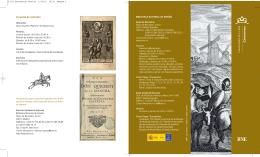 Folleto informativo de la colección Cervantina