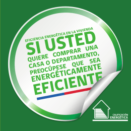 Folleto-comprar vivienda - Calificacion Energetica de Viviendas