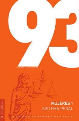 Mujeres y sistema penal - Defensoría Penal Pública