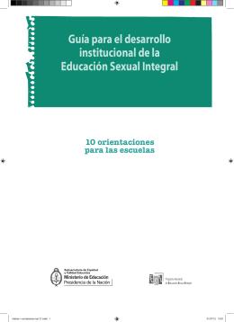Guía para el desarrollo institucional de la Educación