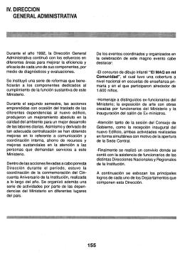 IV. DIRECCION GENERAL ADMINISTRATIVA