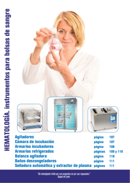 "Agitadores horizontales para bolsas de plaquetas ""APL-54"""
