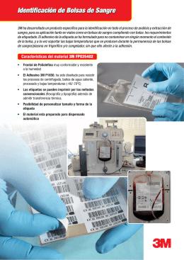 Identificación de Bolsas de Sangre