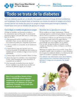 Todo se trata de la diabetes