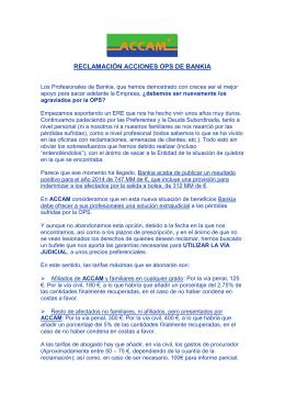 263 13/03/2015 Reclamación acciones OPS de Bankia