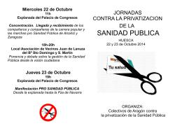 folleto profesionales sanidad 2014 Huesca