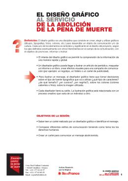 el diseño gráfico al servicio de la abolición de la pena de muerte