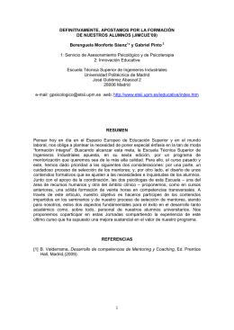 Más información - Indusnet - Universidad Politécnica de Madrid