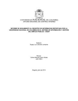 OFICINA NACIONAL DE CONTROL INTERNO