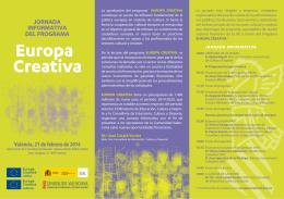 Folleto Europa Creativa 2014 - Ministerio de Educación, Cultura y