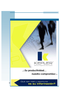 Folleto Kepler 80