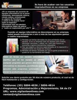 Teléfonos: (55) 5896-4036 / 5896-4814 Programas, Administración