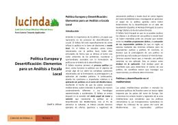 Política Europea y Desertificación
