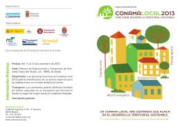 Más información - Conama Local 2013: Foro sobre Desarrollo