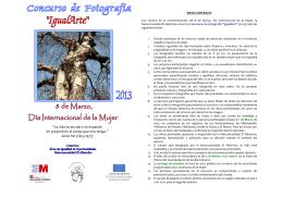 folleto bases Concurso Fotografía 2013