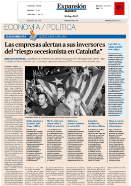 ECONOM lA / POLITICA - Press Cutting Service