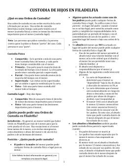 CUSTODIA DE HIJOS EN FILADELFIA