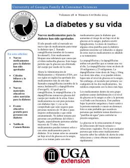 La diabetes y su vida - College of Family and Consumer Sciences