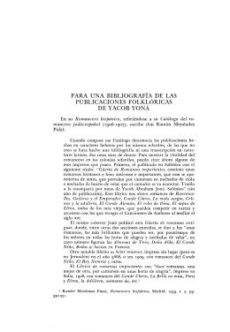 para una bibliografía de las publicaciones folklóricas de yacob yoná