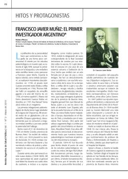 Francisco Javier Muñiz: el primer investigador argentino