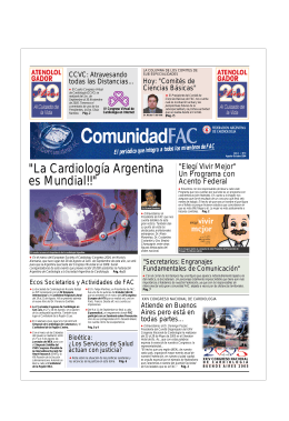 """""""La Cardiología Argentina es Mundial!!"""""""