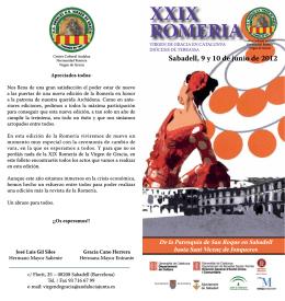 XXIX ROMERIA