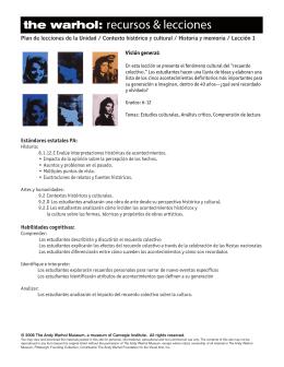 Lección PDF - Andy Warhol Museum