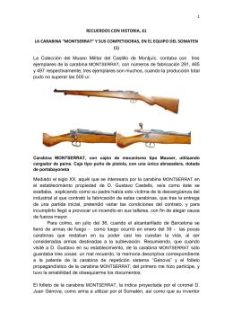 """RECUERDOS CON HISTORIA, 61 LA CARABINA """"MONTSERRAT"""