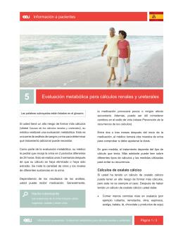 05_Evaluación metabólica para cálculos renales y ureterales